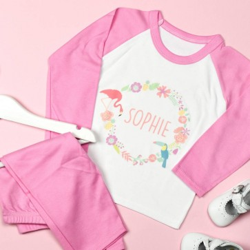 Personalised Floral Circle Pyjamas