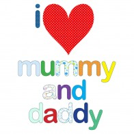 'I Love Mummy and Daddy' Dribble Bib
