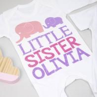 Personalised Big Sister Little Sister Set