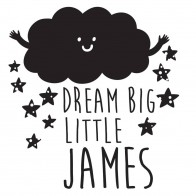 Personalised Dream Big Bib