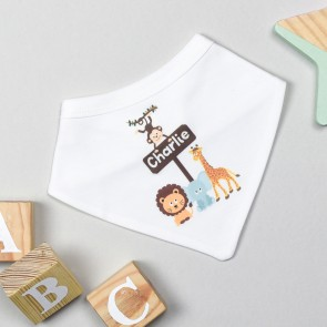 Personalised Animal Safari Bib