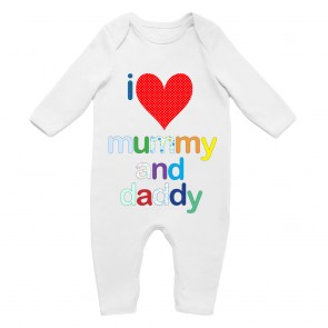 'I Love Mummy and Daddy' Babygrow