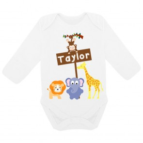 Personalised Animal Safari Bodysuit