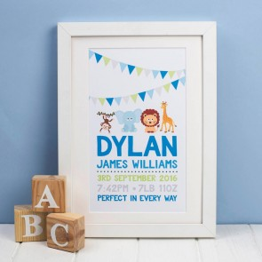 Personalised Animal Birth Print