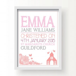 Personalised Christening Print