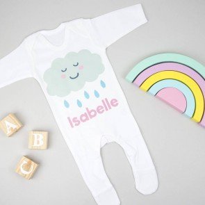 Personalised Cloud Babygrow