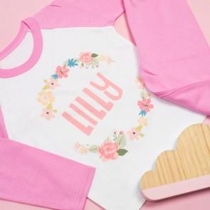 Personalised Floral Pyjamas