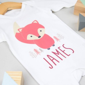 Personalised Fox Babygrow