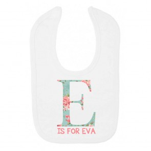 Personalised Floral Letter Bib