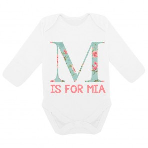 Personalised Floral Letter Bodysuit
