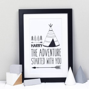 Personalised Teepee Print