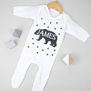 Personalised Bear Babygrow