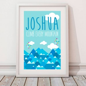 Personalised Climb Every Mountain Print