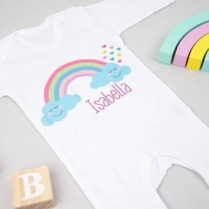 Personalised Rainbow Babygrow