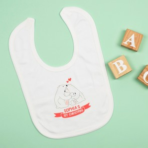 Personalised First Christmas Polar Bear Bib